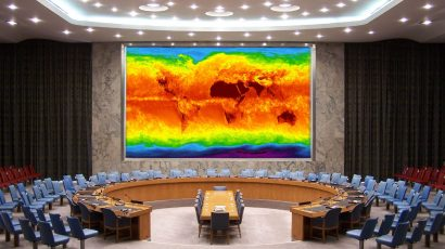 United Nations security council climate change map